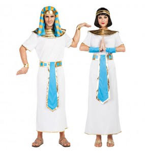 Travestimenti coppia egiziani blu divertenti per travestirti con il tuo partner