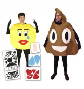 L'originale e divertente coppia di Emoticons reti sociali per travestirsi con il proprio compagno