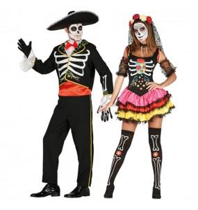 L'originale e divertente coppia di Scheletri messicani catrina per travestirsi con il proprio compagno