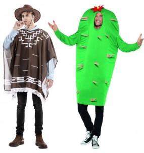 L'originale e divertente coppia di Cowboy Clint Eastwood e Cactus per travestirsi con il proprio compagno
