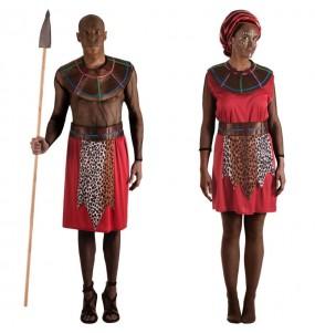 L'originale e divertente coppia di Guerrieri Masai per travestirsi con il proprio compagno