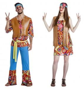 L'originale e divertente coppia di Hippies Happy per travestirsi con il proprio compagno