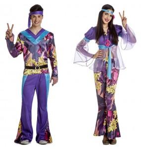 L'originale e divertente coppia di Hippies viola per travestirsi con il proprio compagno