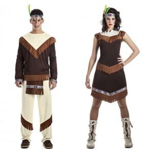L'originale e divertente coppia di Indiani Cherokee per travestirsi con il proprio compagno