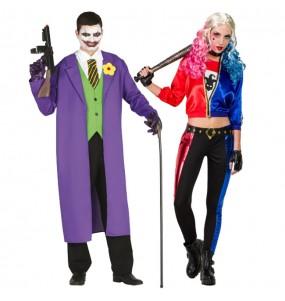 Travestimenti coppia Joker e Harley Quinn divertenti per travestirti con il tuo partner