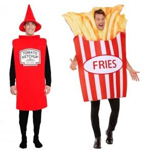 L'originale e divertente coppia di Ketchup e Patate Fritte per travestirsi con il proprio compagno