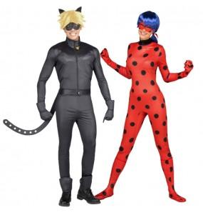 Travestimenti coppia Ladybug e Catnoir divertenti per travestirti con il tuo partner