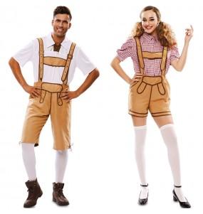 L'originale e divertente coppia di Lederhose Oktoberfest per travestirsi con il proprio compagno