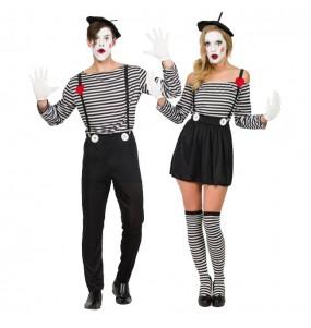 Travestimenti coppia mimi clown divertenti per travestirti con il tuo partner