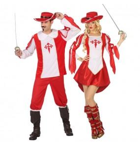 Travestimenti coppia moschettieri Richelieu divertenti per travestirti con il tuo partner