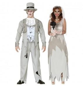 Travestimenti coppia sposi fantasma divertenti per travestirti con il tuo partner