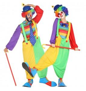Travestimenti coppia clown da circo divertenti per travestirti con il tuo partner