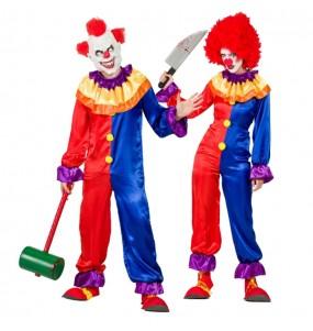 Travestimenti coppia clown diabolici divertenti per travestirti con il tuo partner