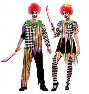 Travestimenti coppia clown maledetti divertenti per travestirti con il tuo partner