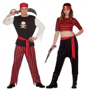 Travestimenti coppia pirati teschio divertenti per travestirti con il tuo partner