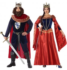Travestimenti coppia principi medievali rossi divertenti per travestirti con il tuo partner