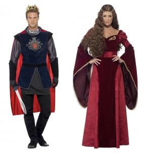 Travestimenti coppia re medievali rossi divertenti per travestirti con il tuo partner