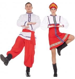 L'originale e divertente coppia di Russi classici per travestirsi con il proprio compagno