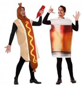 L'originale e divertente coppia di Hot Dog e Pinta di Birra per travestirsi con il proprio compagno