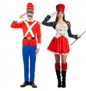 Travestimenti coppia Soldatino di stagno e Majorette divertenti per travestirti con il tuo partner