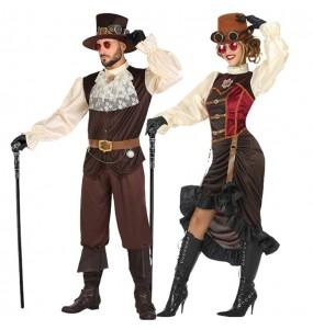 Travestimenti coppia Steampunk vittoriani divertenti per travestirti con il tuo partner
