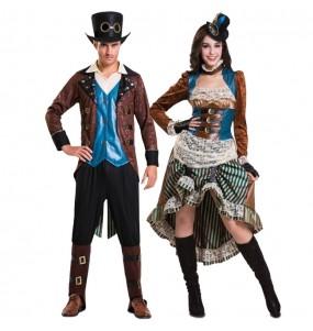 L'originale e divertente coppia di Avventurieri steampunk per travestirsi con il proprio compagno