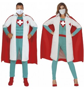 L'originale e divertente coppia di Super Dottori per travestirsi con il proprio compagno
