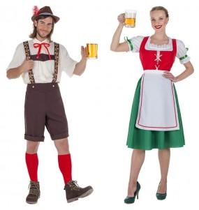 L'originale e divertente coppia di Tirolesi Oktoberfest per travestirsi con il proprio compagno