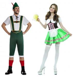 L'originale e divertente coppia di Tirolesi tedeschi per travestirsi con il proprio compagno