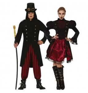 Travestimenti coppia vampiri Steampunk divertenti per travestirti con il tuo partner