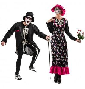 Travestimenti coppia scheletri Catrina divertenti per travestirti con il tuo partner