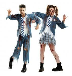 Travestimenti coppia studenti zombi divertenti per travestirti con il tuo partner