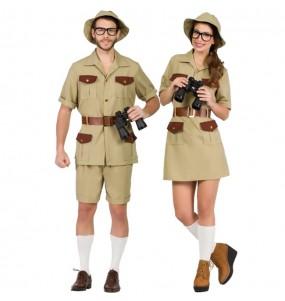 Travestimenti coppia esploratori nella giungla divertenti per travestirti con il tuo partner