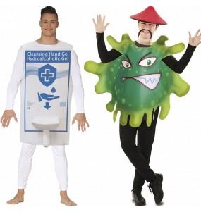 L'originale e divertente coppia di Gel Igienizzante e Coronavirus per travestirsi con il proprio compagno