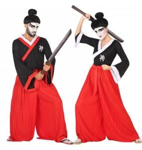 Travestimenti coppia Samurai Warrior divertenti per travestirti con il tuo partner