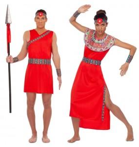 L'originale e divertente coppia di Guerrieri Tribù Masai per travestirsi con il proprio compagno