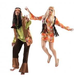 Travestimenti coppia hippy degli anni 80 divertenti per travestirti con il tuo partner