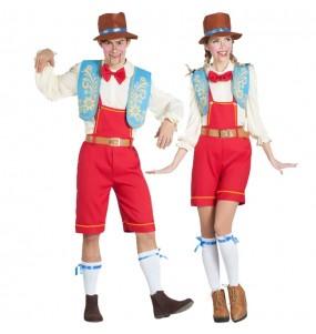 Travestimenti coppia marionette Pinocchio divertenti per travestirti con il tuo partner