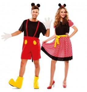 L'originale e divertente coppia di Mickey e Minnie Mouse per travestirsi con il proprio compagno