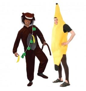 L'originale e divertente coppia di Scimmia e banana per travestirsi con il proprio compagno