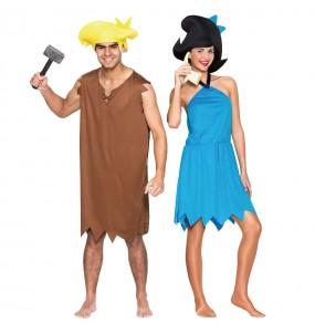 L'originale e divertente coppia di Barney e Betty Rubble per travestirsi con il proprio compagno