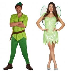 L'originale e divertente coppia di Peter Pan e Fata Verde Trilli per travestirsi con il proprio compagno