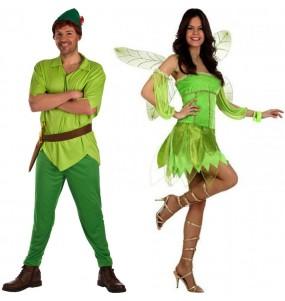 L'originale e divertente coppia di Peter Pan e Fata verde per travestirsi con il proprio compagno