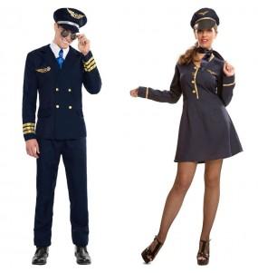 L'originale e divertente coppia di Pilota Aeronautico e Assistente di volo per travestirsi con il proprio compagno