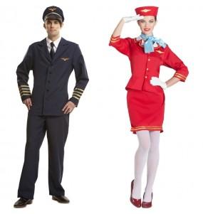 L'originale e divertente coppia di Piloti di aviazione per travestirsi con il proprio compagno