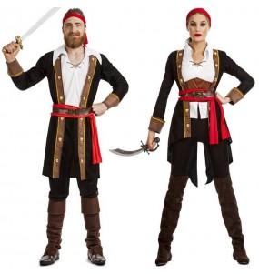 Costumi di coppia Pirati Capitan Uncino
