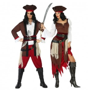 Travestimenti coppia pirati dei Caraibi divertenti per travestirti con il tuo partner