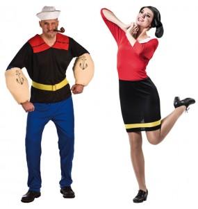 Travestimenti coppia Popeye e Olivia divertenti per travestirti con il tuo partner