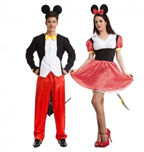 Travestimenti coppia topolini Mickey e Minnie divertenti per travestirti con il tuo partner