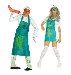 L'originale e divertente coppia di Zombies radioattivi per travestirsi con il proprio compagno